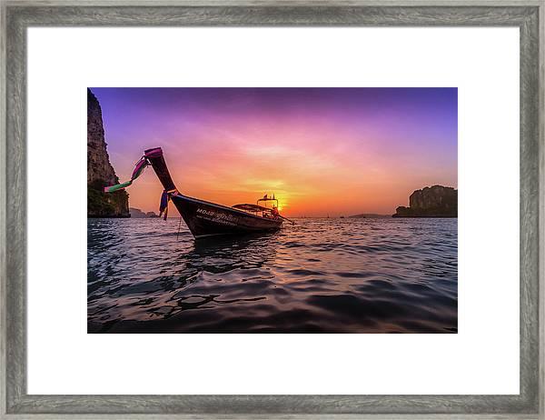 Longtail Sunset Framed Print