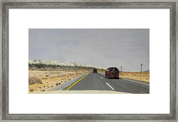 Framed Print featuring the painting Look For America by Kevin Daly