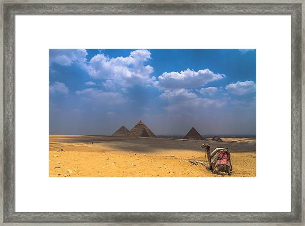 Look Towards The Ancient Wonder Framed Print