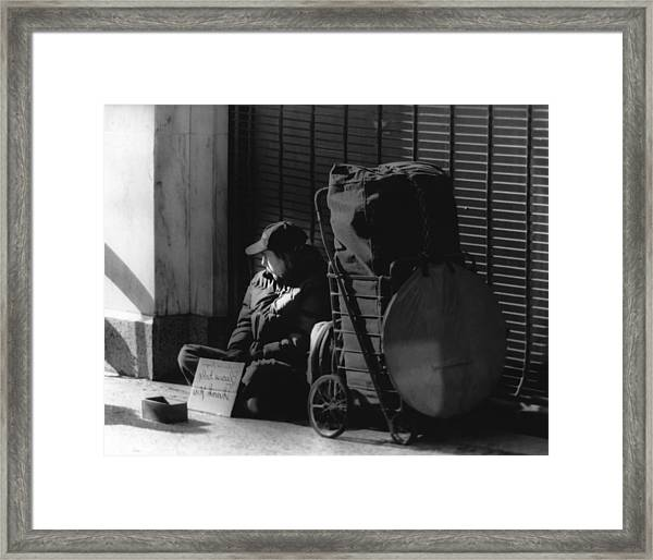 Looked The Other Way Framed Print