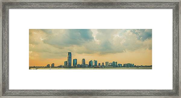 Looking At New Jersey Framed Print