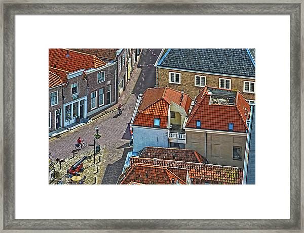 Looking Down From The Church Tower In Brielle Framed Print