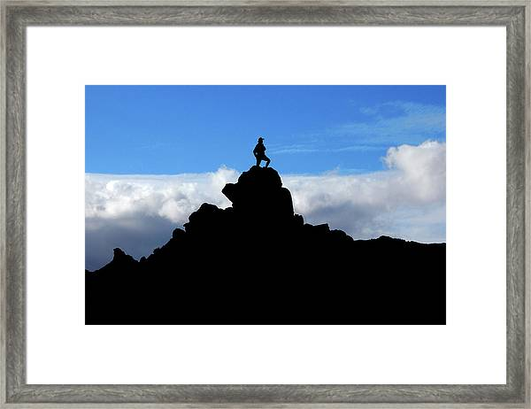The Summit Hunter Framed Print