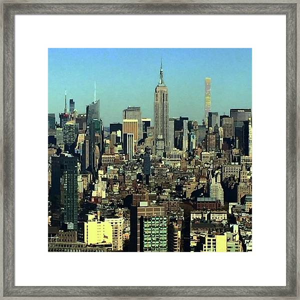 Looking Homeward From #1wtc Framed Print by Gina Callaghan
