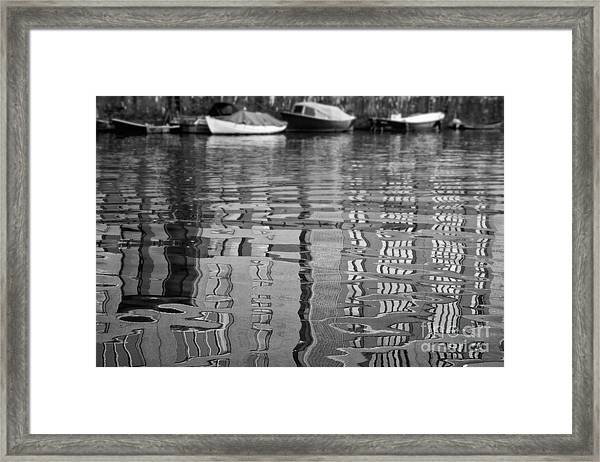 Looking In The Water Framed Print