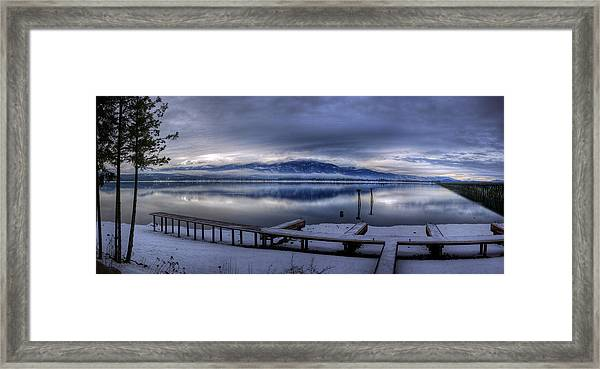 Looking North From 41 South Framed Print