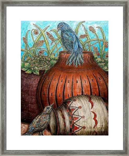 Looking Out For Each Other Framed Print