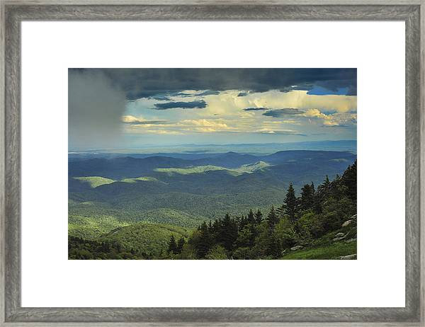 Looking Over The Valley Framed Print
