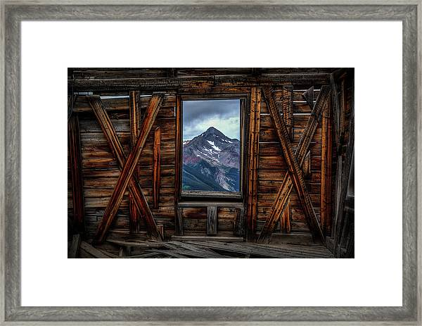 Looking Past Framed Print