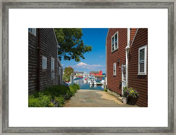 Looking Rockport Framed Print