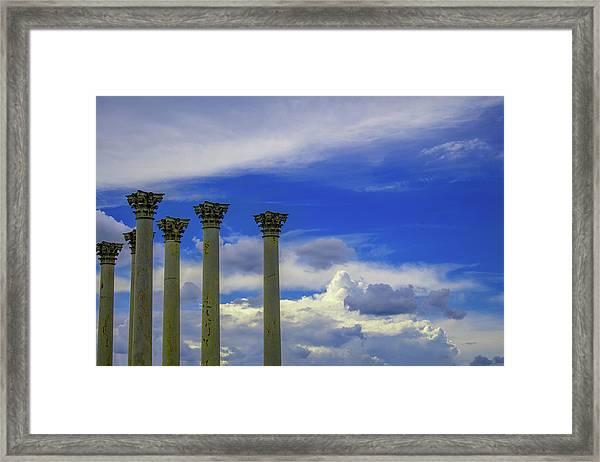 Looking Towards Olympus  Framed Print