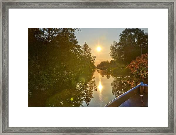 Loosdrecht Boat Trip Framed Print