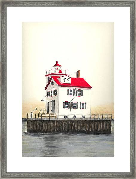 Lorain Lighthouse Framed Print