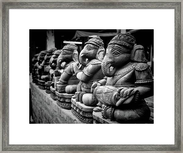 Lord Ganesha Framed Print by Abhishek Singh & illuminati visuals