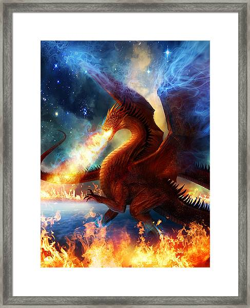 Lord Of The Celestial Dragons Framed Print