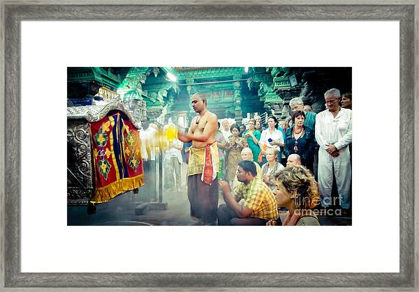 Framed Print featuring the photograph Lord Shiva Meenakshi Temple Madurai India by Raimond Klavins