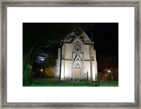 Loretto Church In Santa Fe Framed Print