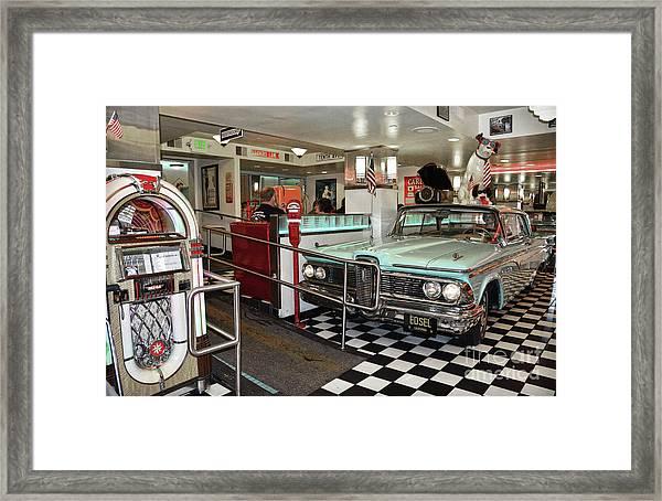 Loris Diner In San Francisco Framed Print