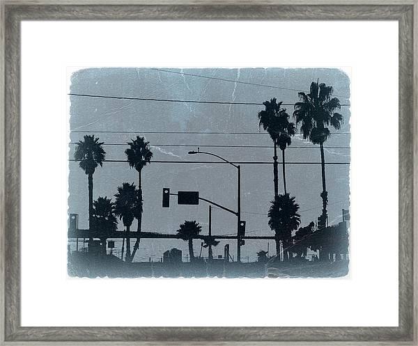 Los Angeles Framed Print by Naxart Studio