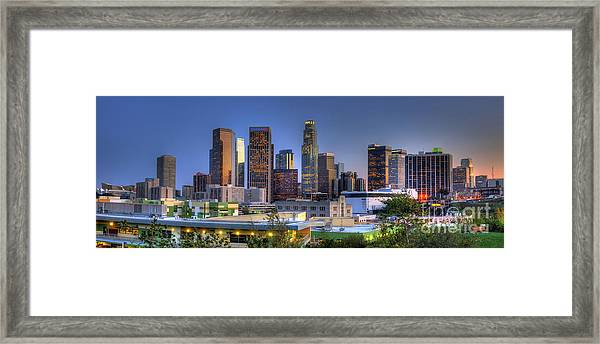 Los Angeles Skyline Framed Print