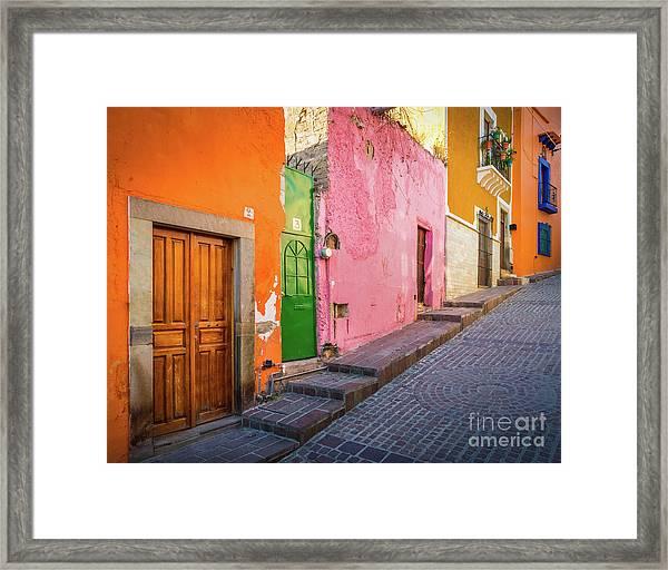 Los Colores De Guanajuato Framed Print