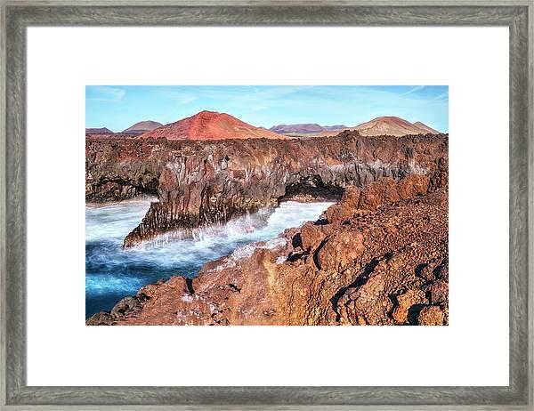 Los Hervideros - Lanzarote Framed Print