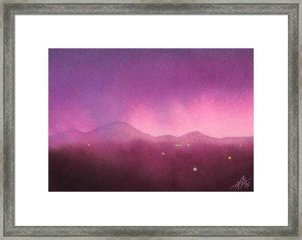 Los Penasquitos Canyon With Black Mountain IIi Framed Print by Robin Street-Morris