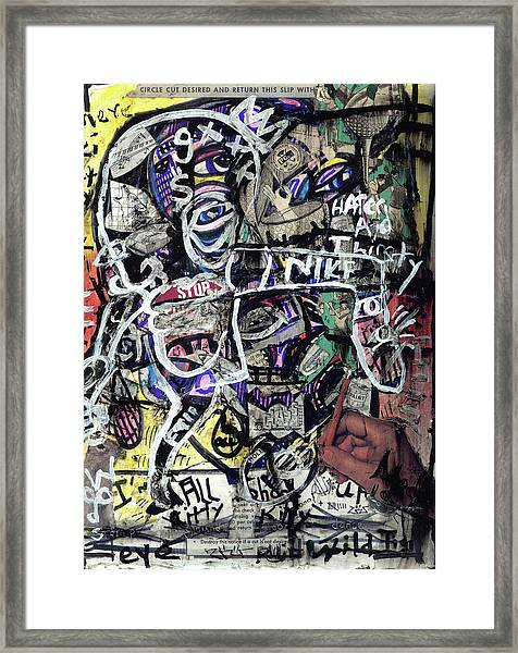 Losing Face Value Framed Print