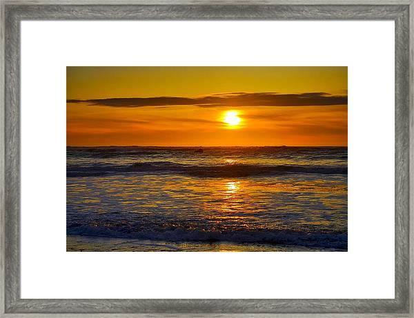 Lost Coast Sunset Framed Print