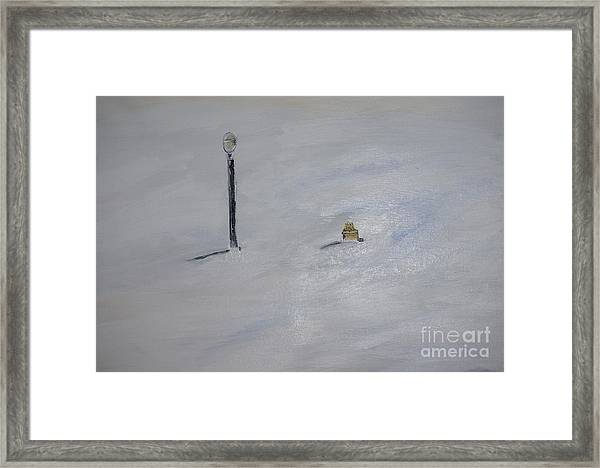 Lost Fire Hydrant Framed Print