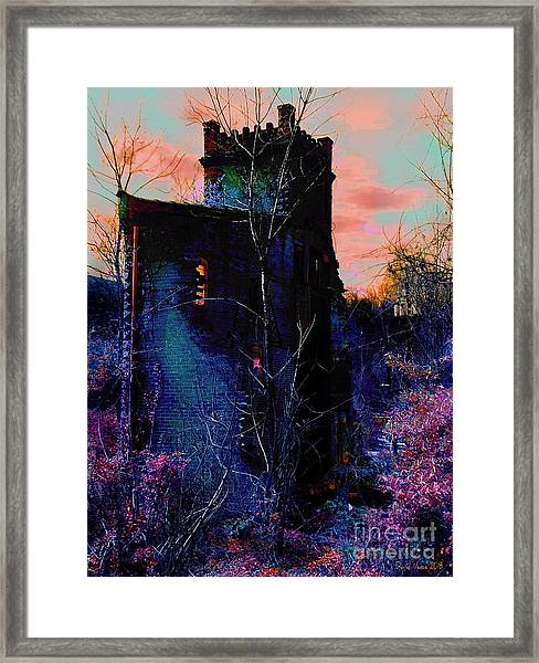 Lost Tower Of The Blue King Framed Print