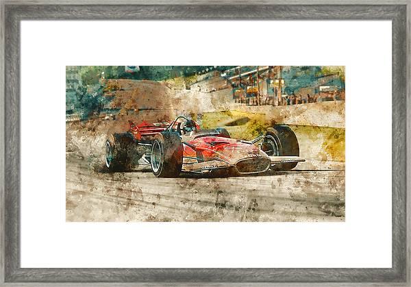 Lotus 49 - 33 Framed Print