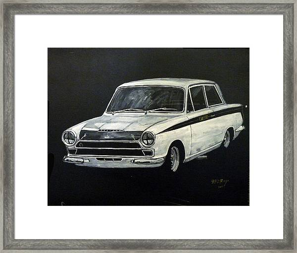 Lotus Cortina Framed Print