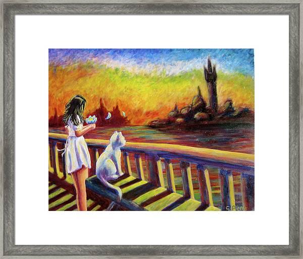 Lotus Girl Framed Print
