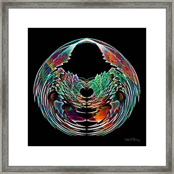 Lotus In A Bowl Framed Print