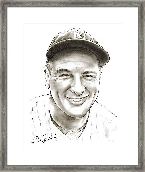 Lou Gehrig Framed Print