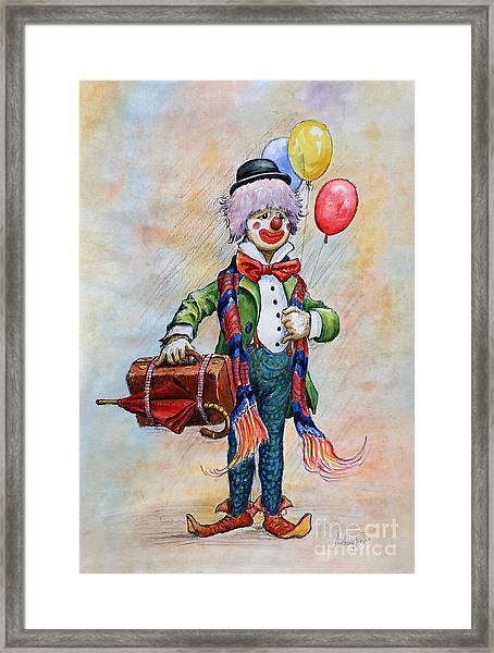 Lou The Clown Framed Print
