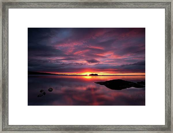 Lough Mask Dawn Framed Print