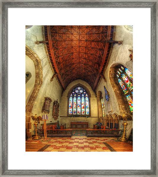 Loughborough Church - Altar Vertorama Framed Print