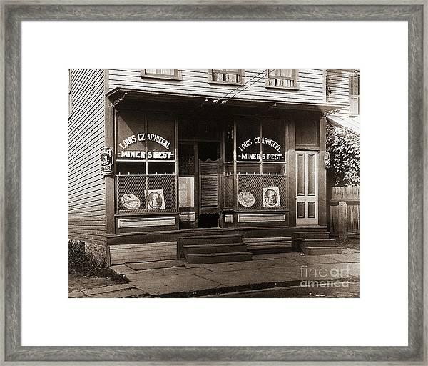 Louis Czarniecki Miners Rest 209 George Ave Parsons Pennsylvania Framed Print