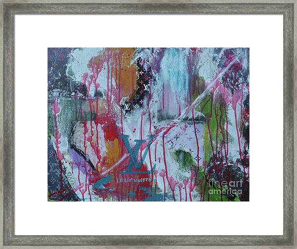 Louis Vuitton Abstract Framed Print