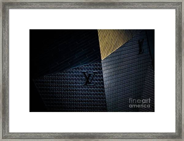Louis Vuitton At City Center Las Vegas Framed Print