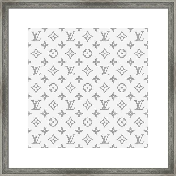 Louis Vuitton Pattern - Lv Pattern 14 - Fashion And Lifestyle Framed Print