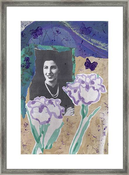 Louise In Boston 1944 In Memory Of My Mother Framed Print
