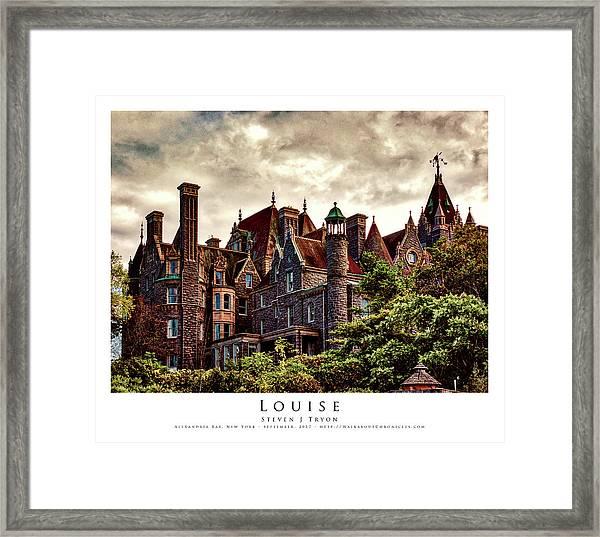 Louise Framed Print by Steven Tryon