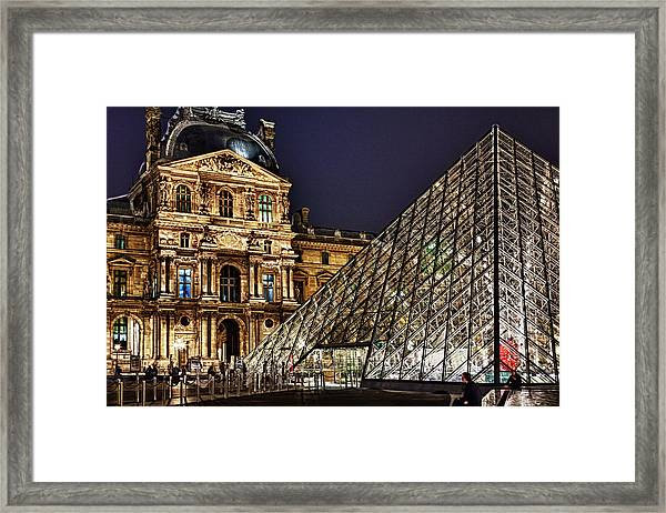 Louvre By Night I Framed Print