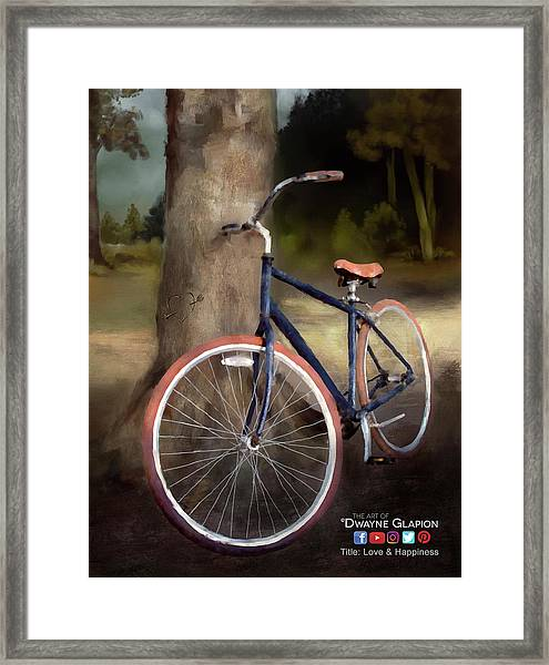 Love And Happiness Poster Framed Print