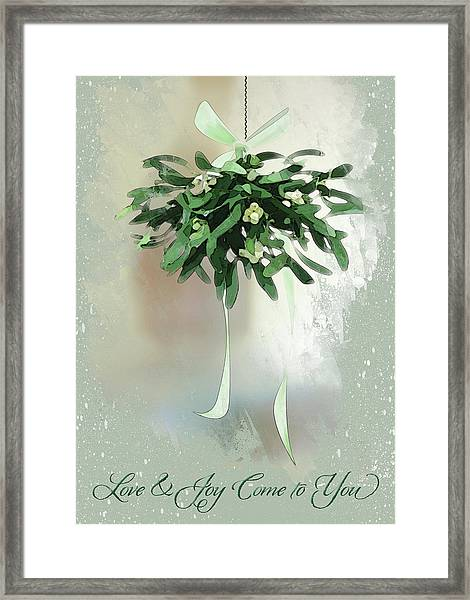 Framed Print featuring the digital art Love And Joy by Gina Harrison