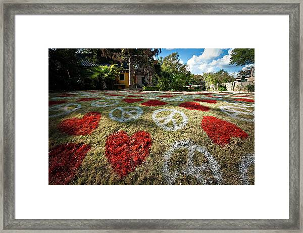 Love And Peace Framed Print