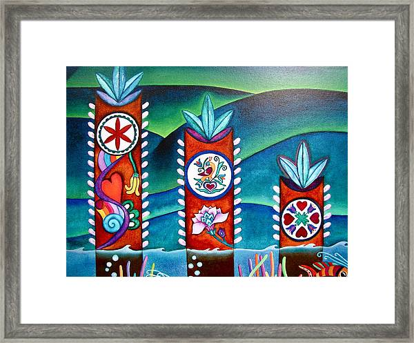 Love And Romance Detail Of Pa Hex Signs Framed Print